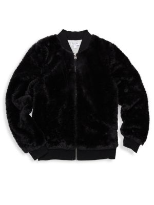 Baby Girl's Gramercy Faux Fur Bomber Jacket by Splendid