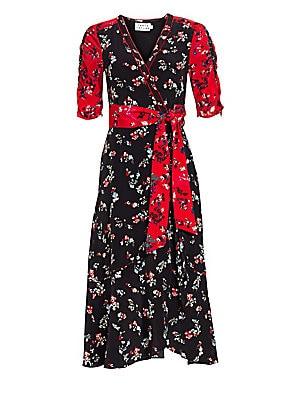 dbdcd1054c AMUR - Jaylah Silk Chiffon One-Shouldered Dress - saks.com