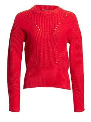 Tanya Taylor Eloisa Rib Knit Sweater