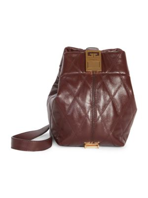 a55c7606d1df Givenchy Mini Gv3 Quilted Leather Bucket Bag In Aubergine ...