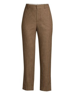 Houndstooth Slim Leg Trousers by Polo Ralph Lauren