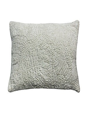 """Image of Chic decorative textured velvet pillow goes with any couch. Zipper close Velvet finish Lined Polyester Dry clean Imported SIZE 22""""W x 22""""H. Gifts - Bed And Bath. Callisto Home."""
