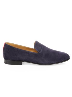 DEL TORO Everyday Suede Loafers in Navy