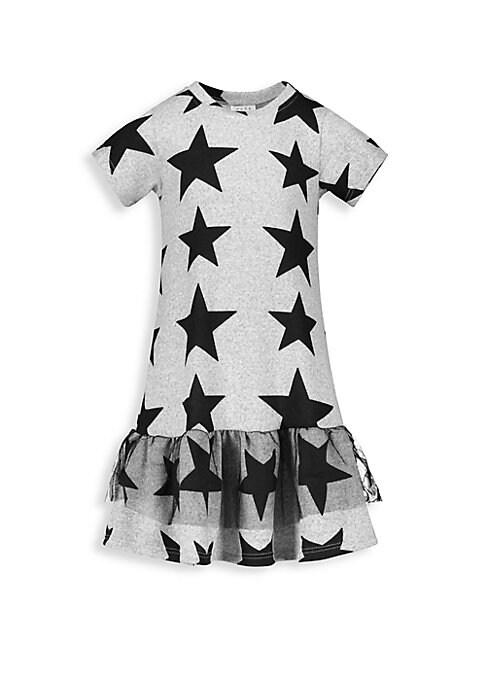 Baby Girls  Little Girls StarPrint ALine TShirt Dress