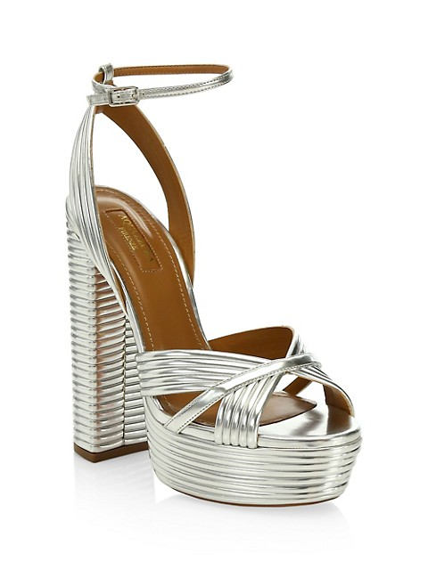 Sundance Platform Metallic Sandals