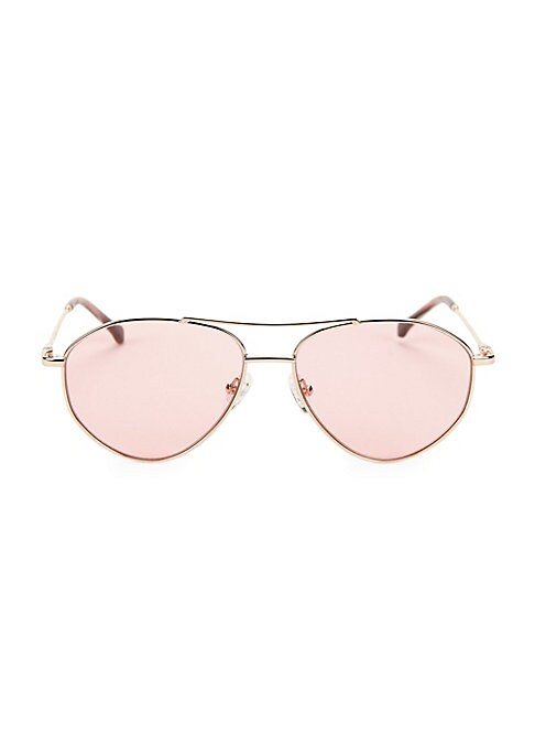 Image of On-trend metal aviator silhouette with gradient lenses.100% UV protection. Gradient lenses. Cloth and case included. Metal. Imported. SIZE.57mm lens width.15mm bridge width.135mm temple length.