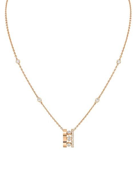 Move Romane 18K Rose Gold & Diamond Mini Pendant Necklace
