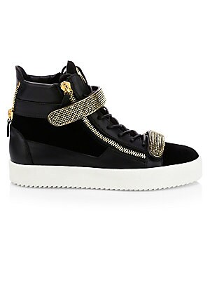 da325c77e Giuseppe Zanotti - Exclusive Velvet Bordeaux Sneakers - saks.com