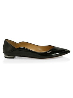 59505b2ac8f4f3 Zen Patent Leather Ballet Flats BLACK. QUICK VIEW. Product image