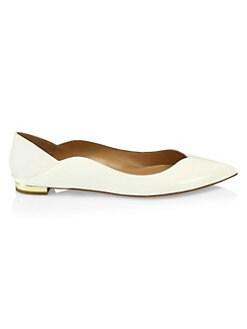 79fe5b5ddccf8 Aquazzura. Zen Patent Leather Ballet Flats
