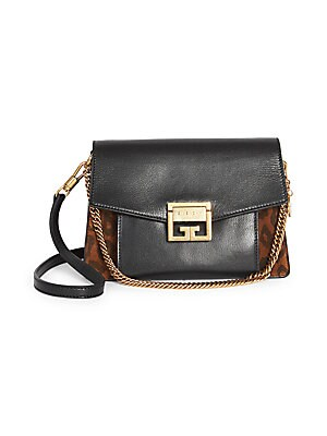 857f307e15ff Givenchy - Small GV3 Leopard-Print Suede & Leather Shoulder Bag - saks.com