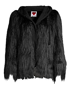 House of Fluff - Hooded Faux Fur Jacket a912c4067462d