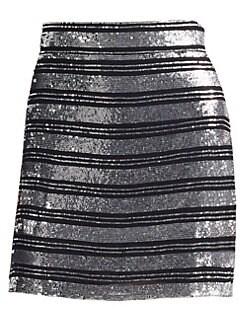 a5a34a7369 QUICK VIEW. Derek Lam 10 Crosby. Sequin Stripe Mini Skirt