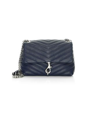 Edie Quilted Chevron Leather Crossbody Bag by Rebecca Minkoff