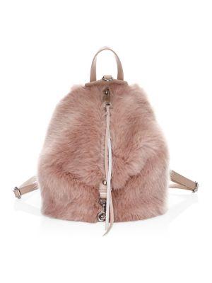Mini Julian Convertible Faux Fur Backpack by Rebecca Minkoff