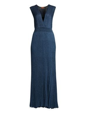 Pleated Lamé Gown by Missoni