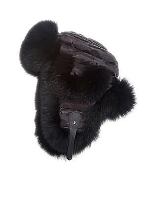 529b009c7e5 Brunello Cucinelli - Velvet Fox Fur Trapper Hat - saks.com
