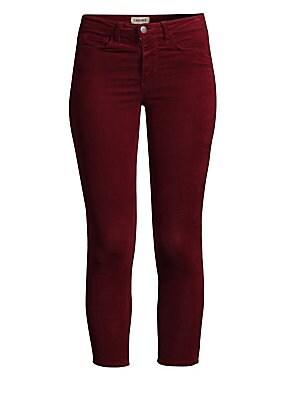 ceaa4354ed L Agence - Margot High-Rise Velvet Skinny Jeans - saks.com