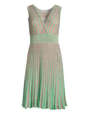 Operato Stripe Metallic Lamé A Line Dress by Missoni