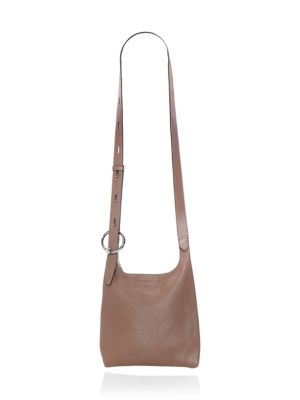 Small Karlie Feed Leather Bag in Mink