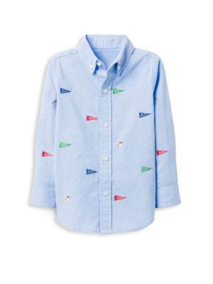 Little Boy's & Boy's Pennant Cotton Oxford Shirt by Janie And Jack