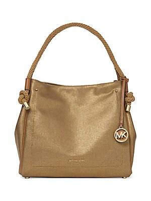 b46839d2a0ef MICHAEL Michael Kors - Medium Brooke Pebbled Leather Bucket Bag ...