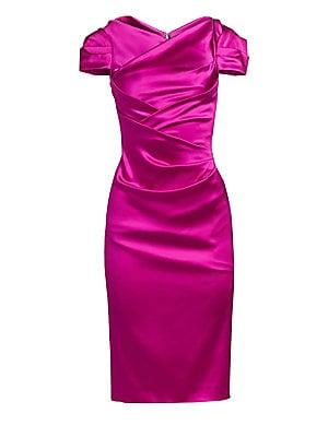00c78a634f200 Talbot Runhof - Satin Duchess Cocktail Dress - saks.com