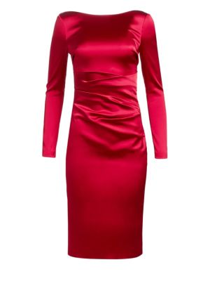 Talbot Runhof Long-Sleeve Cocktail Dress