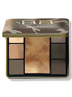 Image of $91 VALUE WHAT IT IS Our modern spin on iconic camo features six matte, metallic and sparkle shadows for multidimensional eye looks, plus a light-reflective highlighting powder to instantly illuminate skin-all in one versatile palette. A $91 value, yours