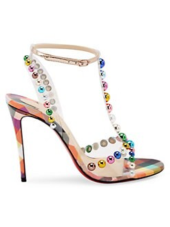85f83f5c2a1 QUICK VIEW. Christian Louboutin. Faridaravie 100 Leather   PVC Slingback  Sandals