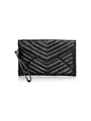 Rebecca Minkoff Pouches Leo Quilted Metallic Leather Envelope Clutch