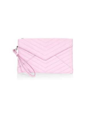 Leo Quilted Envelope Clutch in Light Orchid