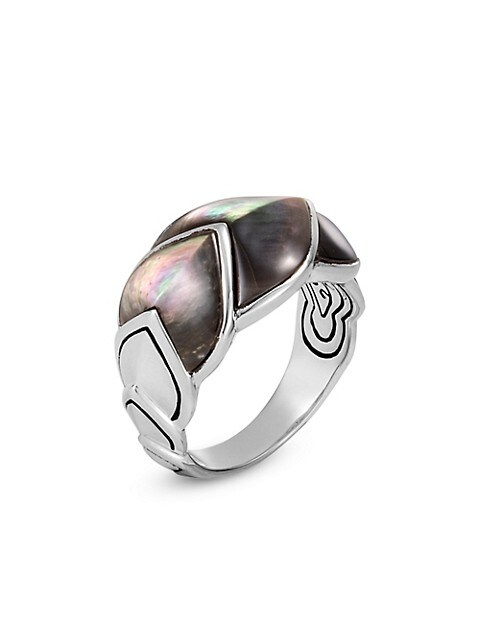 Legends Mother-Of-Pearl Naga Silver Ring