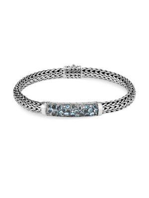John Hardy Classic Chain Silver & Gemstone Small Bracelet