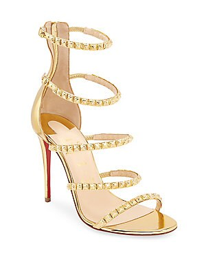 60541e19ea46 Christian Louboutin - Forever Girl 100 Metallic Leather Slingback Sandals