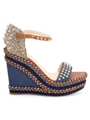 4205cb6bf6a Christian Louboutin Mad Monica 120 Leather   Denim