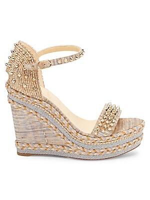eccad3e3527 Christian Louboutin - Mad Monica 120 Platform Wedge Sandals