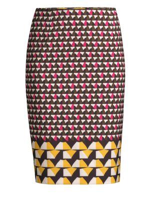 Vareika Anthracite Melange Pencil Skirt, Green