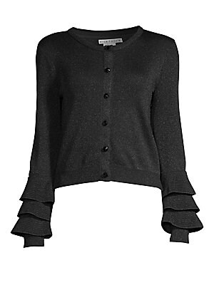 acddb16231 Alice + Olivia - Ruthie Tiered Bell Sleeve Wool-Blend Cardigan