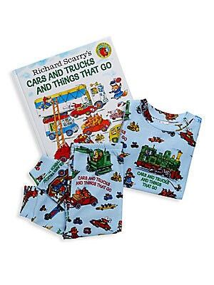 Image of Buckle-up for a fun-filled day of planes, trains, automobiles. and even a pickle truck! Featuring hundreds of clearly labeled vehicles, this is the perfect book for little vehicle fans from the one and only Richard Scarry. Pajama set features stunning ill