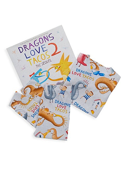 Little Boys Dragons Love Tacos TwoPiece Pajama and Book Set