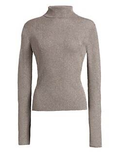 1a1057e603 Lurex Ribbed Turtleneck Sweater SILVER. QUICK VIEW. Product image