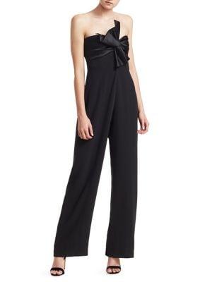 Cinq A Sept Bow Detail Jumpsuit - Black