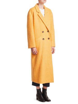 Maya Long Mohair Blend Boxy Coat by Cinq à Sept
