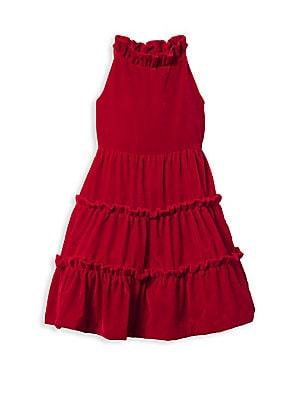 8aa1aab15c Janie and Jack - Little Girl s   Girl s Velvet Ruffle Dress - saks.com