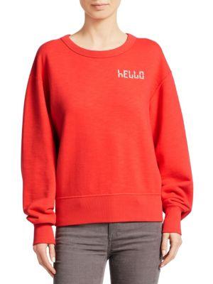 Rag And Bone Red Hello Sweatshirt, Candy Apple