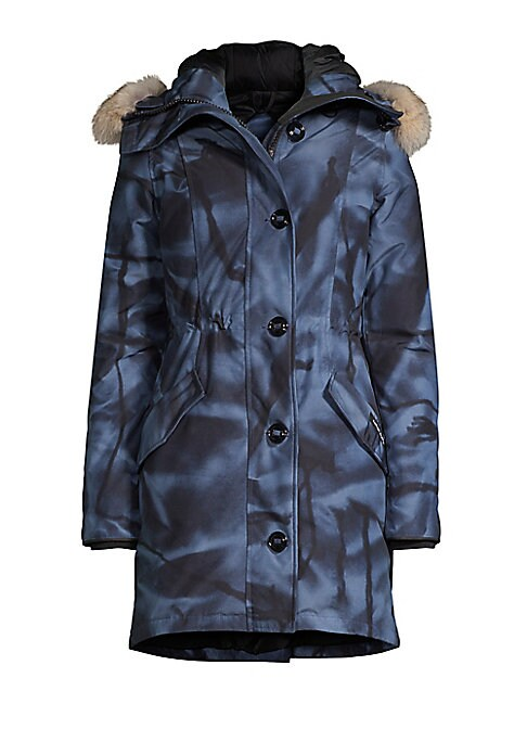 Image of A plush fur-trimmed hood enhances this down-filled ultra-warm parka with an adjustable drawstring waist. Attached hood with removable fur trim. Long sleeves. Concealed zip with button front. Waist flap pockets. Drawstring waist. Back zippered vent. Curved