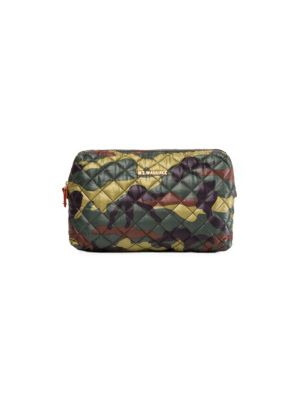 Mica Zip Cosmetic Bag, Camo