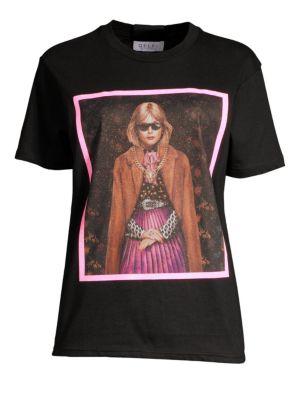 DELFI COLLECTIVE Delfi Girl Graphic T-Shirt in Black