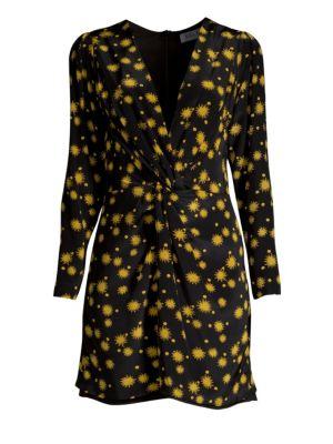 DELFI COLLECTIVE Frankie Sun Print Long Sleeve Mini Dress in Multi